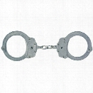 Peerless 700C Chain Link Handcuffs, Nickel Finish - Carbon - Unisex - Included