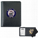 Strong Leather Side Open Badge Case for Your Challenge Coin, Black - Black - male - Included