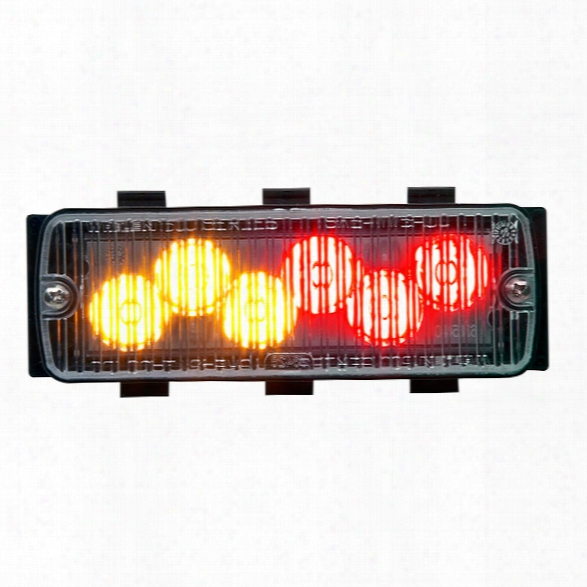 Whelen 500 Series Tir6™ Super-led® W/ Sccan-lock™ Flash Patterns, Steady & Synchronize Feature, Red/amber Split - Red - Unisex - Excluded