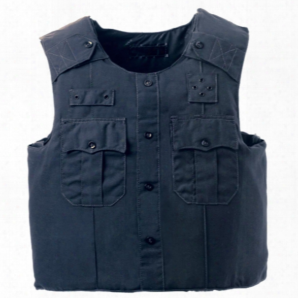 American Body Armor Uniform Shirt Carrier, 2-pocket (spec Color & Panel Size) - Black - Male - Included