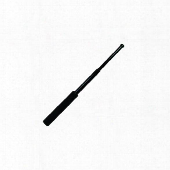 Asp 16in Friction Loc Baton, Foam Grip, Black Chrome - Carbon - Male - Included