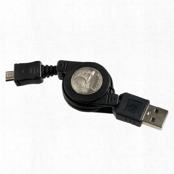 Asp Micro Usb Retractable Cord - Blue - Male - Included