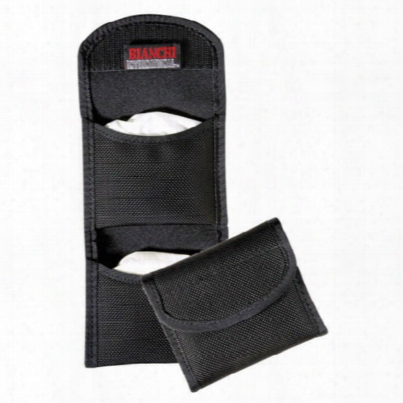 Bianchi 7328 Flat Nylon Glove Holder W/hook & Loop Closure, Black - Black - Unisex - Included