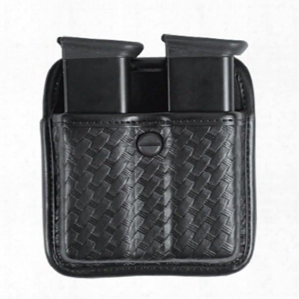 Bianchi 7922 Triple Threat Ii Dbl Mag Pouch Open Top, Basketweave For Beretta 92f/96f/8000/8040/cougar, Glock 17/19/22/23, S&w M&p 9mm .40/sw99, Sig P - Black -