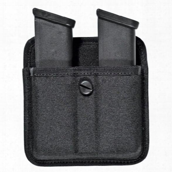 Bianchi 8020 Triple Menace Ii Dbbl Mag Pouch W/open Top, Nylon, Black, H&k P7-m8, Ruger P90, S&w 4013/4506/4516, Sig P220/p225/p239, Springfield Trp Op - Black -