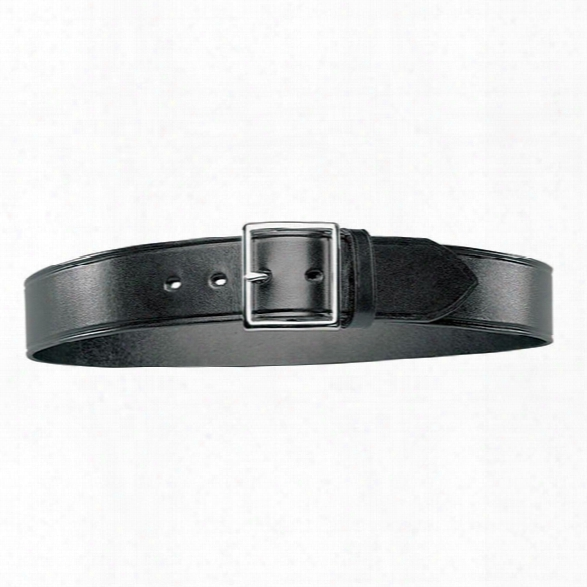 Bianchi B8g Garrison Belt, Plain Black, Chrome Buckle, 26-inch - Brass - Unisex - Included