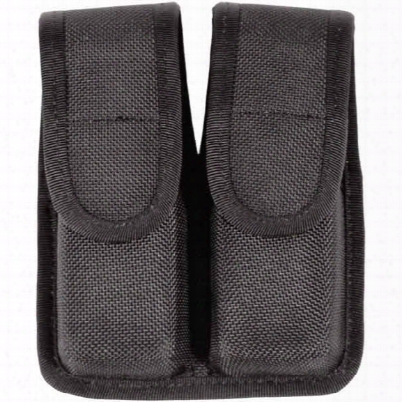 Blackhawk Double Mag Pouch, Molded Cordura, Single Row - Black - Male - Included