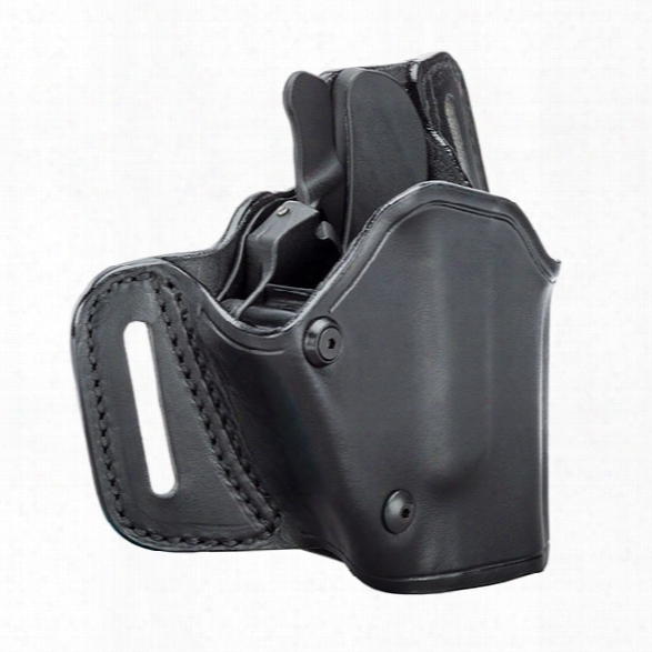 Blackhawk Gripbreak Leather Holster, Plain Black, Lh, Fits Glock 17/19/22/23/26/27/31/32/33 - Black - Unisex - Included