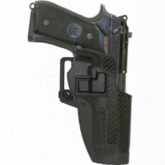 Blackhawk Serpa Cqc Concealment Holster, Carbon-fiber Finish, Black, Left-handed, Glock 17 22 31 - Carbon - Male - Included