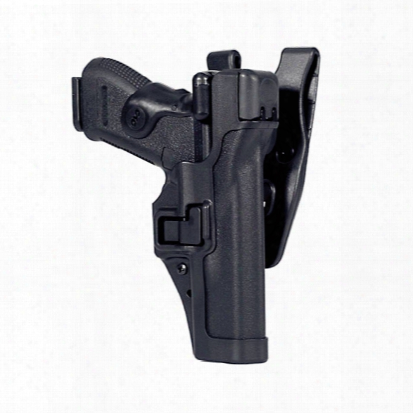 Blackhawk Serpa Level 3 Duty Holster, Matte Black, Lh, Fits Glock 17/19/22/23/31/32 - Carbon - Male - Included