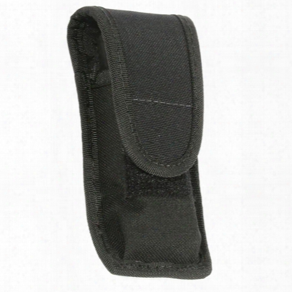 Blackhawk Universal Single Mag Pouch, Cordura Nylon, Single Row, Fits 9mm, .40, .45 - Black - Unisex - Included