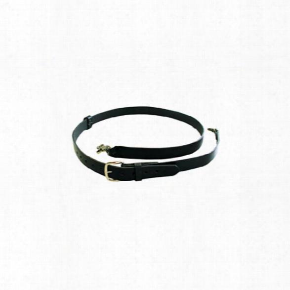 "Boston Leather Firefighter's Radio Strap W/motorola Clip, Black, Nickel Hardware (53""-62"") - Black - Unisex - Included"