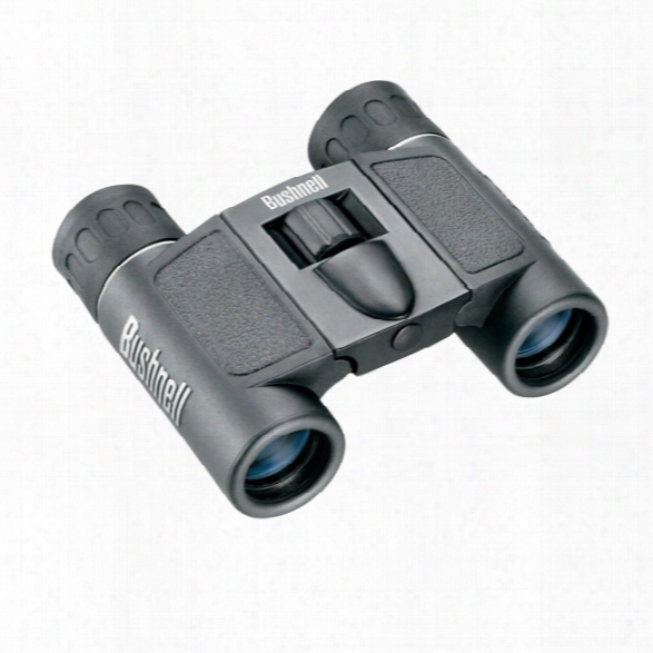 Bushnell Powerview Compact Binoculars, 16x32mm Black Roof Prism - Black - Unisex - Included