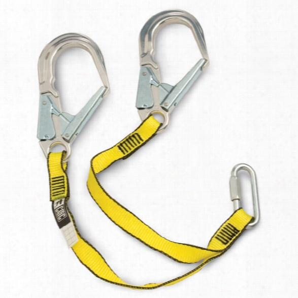 "Cmc Rescue Bypass Lanyard W/aluminum Snap Hooks, 28"" - Silver - Unisex - Included"