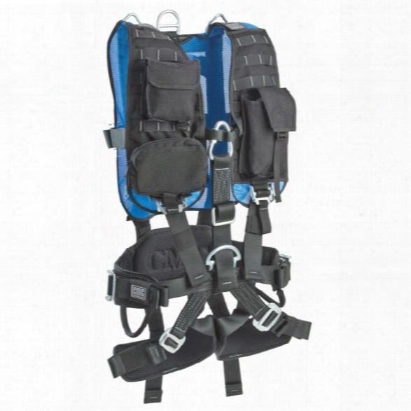 Cmc Rescue Confined Space Harness, Small, Black/blue - Black - Male - Included