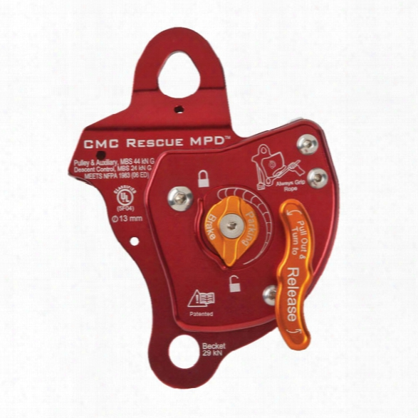 Cmc Rescue Mpd Multi-purpose Rescue Device, 13mm, Red - Blue - Male - Included
