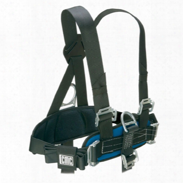 Cmc Rescue Proseries Chesy Harness, Black/blue - Black - Unisex - Included