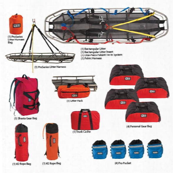 Cmc Rescue Rope Rescue Team Kit W/4 Rescue Harnessse - Large/x-large - Male - Included