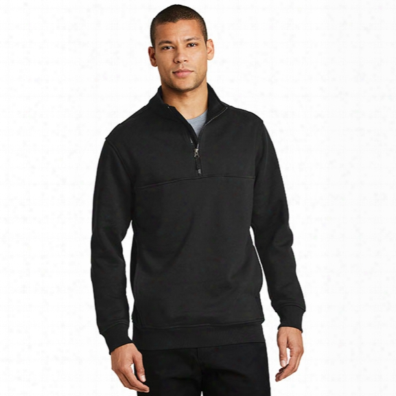 Cornerstone 1/4 Zip Fleece Job Shirt, Black, 2x-large - Black - Male - Included