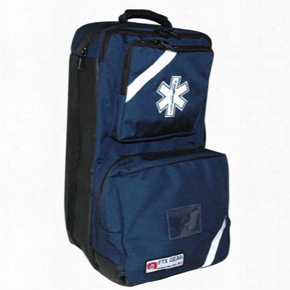 Fieldtex Products, Inc O2/trauma/aed Backpack, Navy - Blue - Male - Included