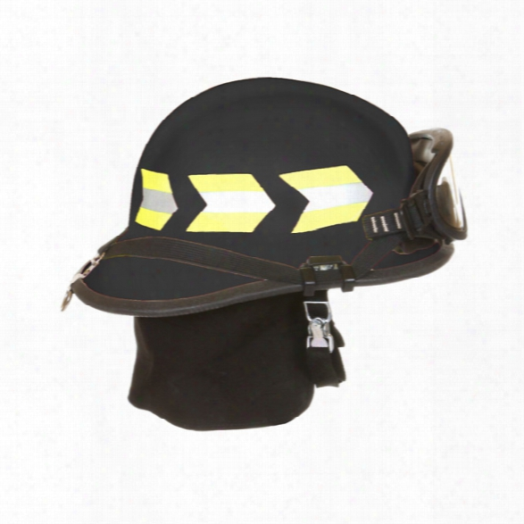 Fire-dex 911 Modern Deluxe Fire Helmet, Ess Goggles, Black - Black - Male - Included