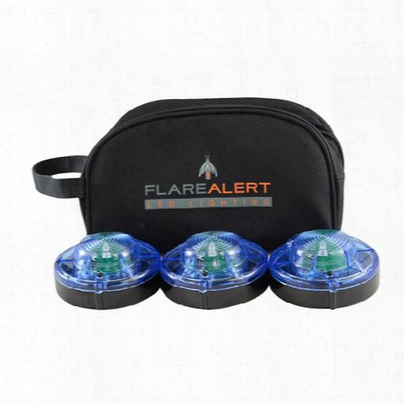 Flarealert Small Roadside Beacon Pro Kit, 3 Pack, Blue - Blue - Unisex - Included