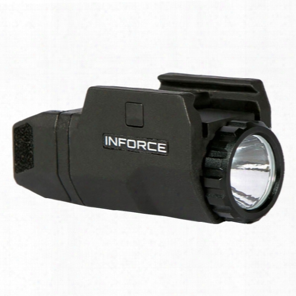 Inforce Aplc Compact Auto Pistol Light, 200 Lumens, Black - White - Male - Included