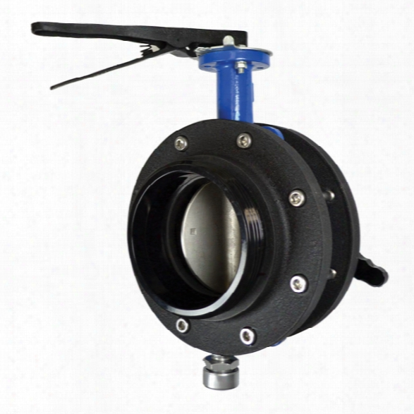 "Kochek Butterfly Valve W/lever Handle, 6"" Nh Female Swivel X 6"" Nh Male - Male - Included"