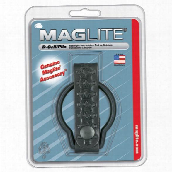 Mag-lite Belt Holder For Maglite® D-cell Flashlight, Basketweave - Brass - Male - Included