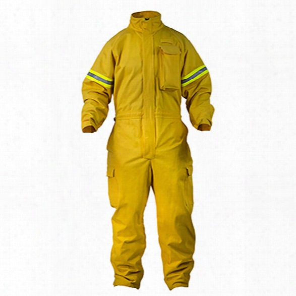 Pgi Fireline Ground Pounder (classic) Jumpsuit, Tecasafe Plus, 7 Oz., Yellow, 2x, Regular - Yellow - Male - Included