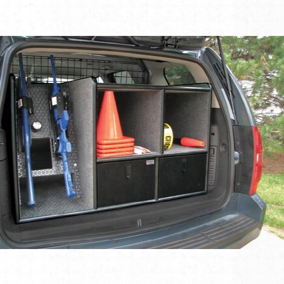 Pro-gard Cargo Cabinet W/dual-vertical Gun Racks For 07-2014 Chevy Tahoe/suburban - Marine - Male - Excluded