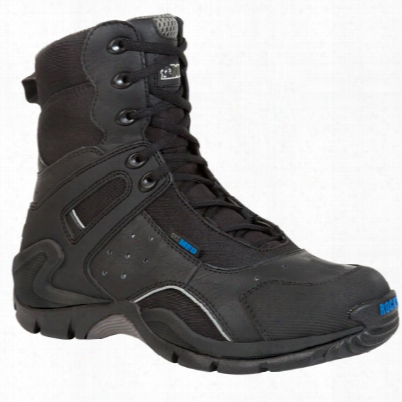 "Rocky 8"" 1st Med Boot, Black, 10.5m, Side Zip, Carbon Fiber Toe, Mens - Carbon - Male - Included"
