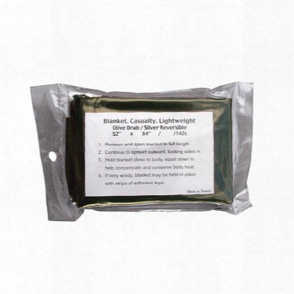 Rothco G.i. Lightweight Survival Blanket, Olive Drab - Green - Unisex - Included