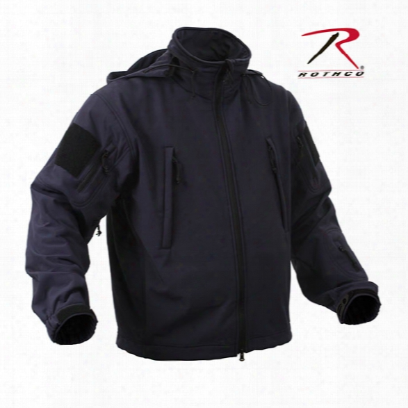 Rothco Special Ops Tactical Softshell Jacket, Midnight Blue, Large - Blue - Male - Included