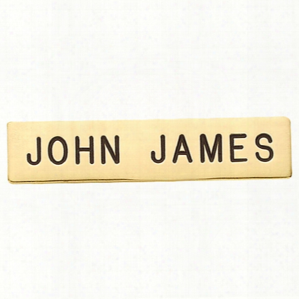Smith & Warren Nameplate 1/2 X 2-1/2 - Gold - Gold - Male - Included