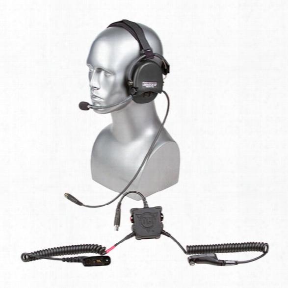Tci Liberator Iii Lite Tactical Headset, Dual Comm, Bth, Left Mic, Black, For Motorola Xts Series & Smart Phone - Black  - Unisex - Included