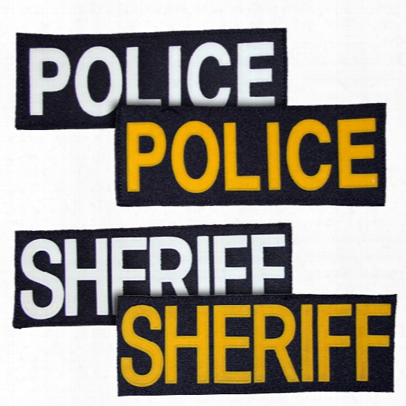 American Body Armor Patch Set (2) For Aba & Sc, Police, Gold Lettering, Black Background - Green - Unisex - Included
