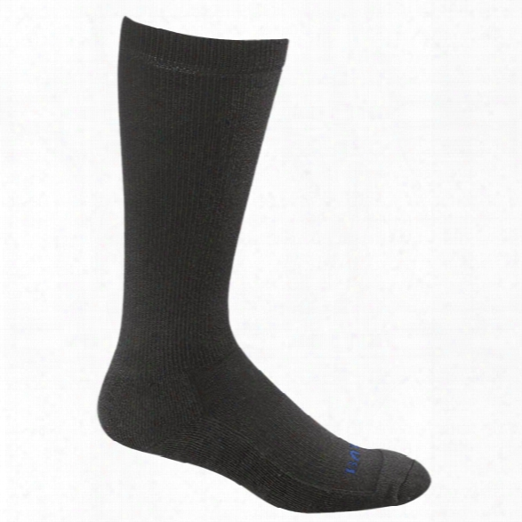 Bates (1 Pair) Uniform Midcalf Dress Sock, Black, Lg - Black - Male - Included