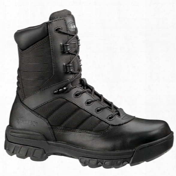 "Bates 8"" Womens Tactical Boot Sport Side Zip 10m - Black - Amle - Included"