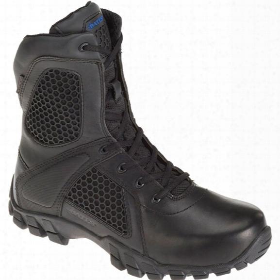 "Bates Shock 6"" Side-zip Boot, Black, 10.5 Medium - Black - Male - Included"