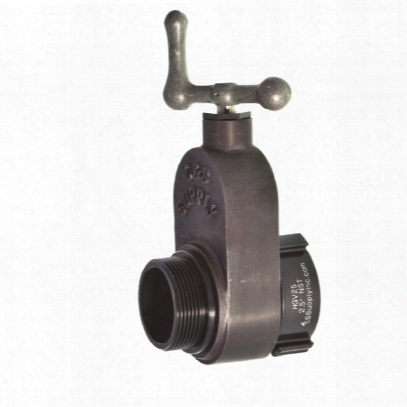"C&s Supply Hydrant Gate Valve, 2.5"" F. X 2.5"" M. With 'l' Shaped Handle - Nst Only - Unisex - Included"