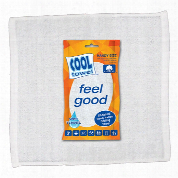 Cool Towel 100% Cotton Cooling Towel, White, Handy (12x12) - Green - Male - Included