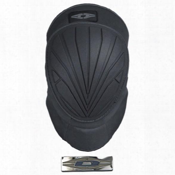 Damascus Dkx1 Vortex Gel-core Hybrid Knee Pads, Black - Black - Male - Included
