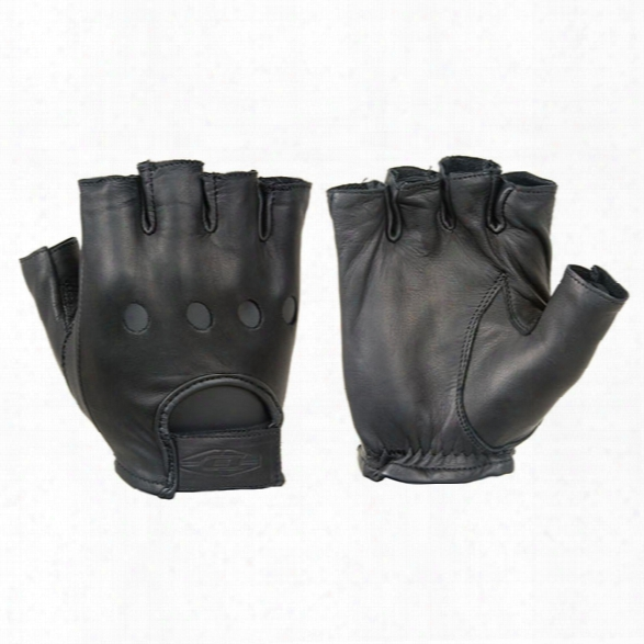 Damascus Transit Gloves, Leather Driving Gloves, 1/2 Finger, 2x-large - 1/2 Finger - Male - Included