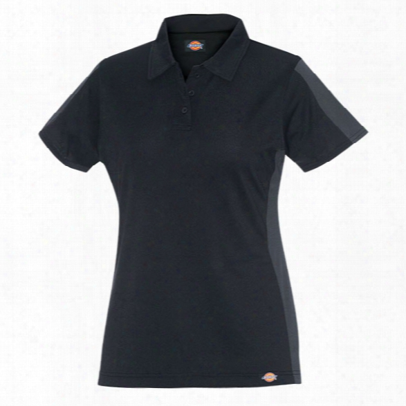 Dickies Womens Performance Colorblock Polo, Black/charcoal, 2xl - Black - Male - Included