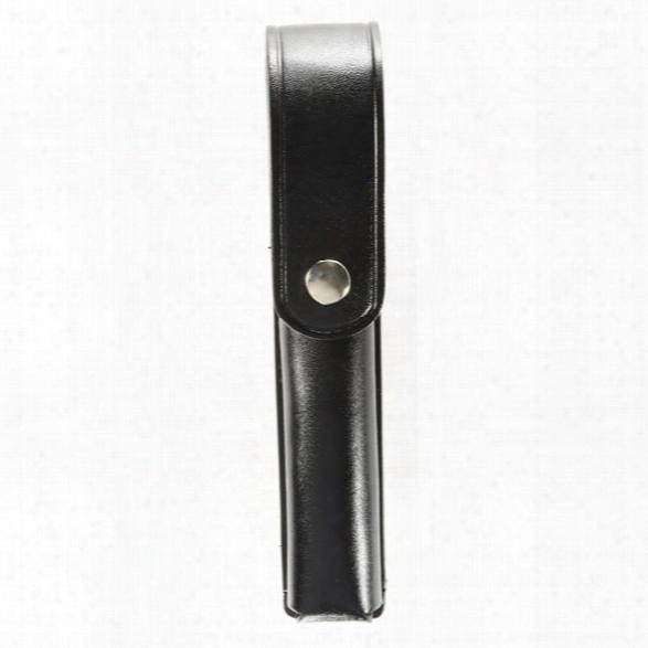 Dutyman 2811 Flashlight Holder, Plain Black, Gold Snap, Fits Stinger - Black - Unisex - Included