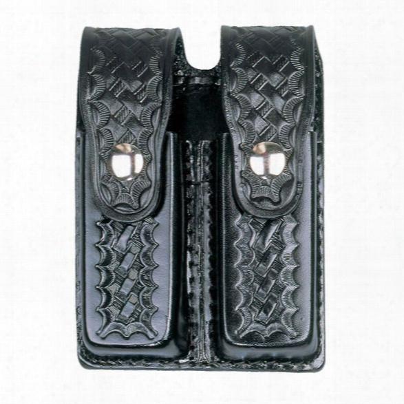 Dutyman 8511 Double Mag Holder, Plain Black, Gold Snaps, Fits Glock 20/21 - Black - Unisex - Included