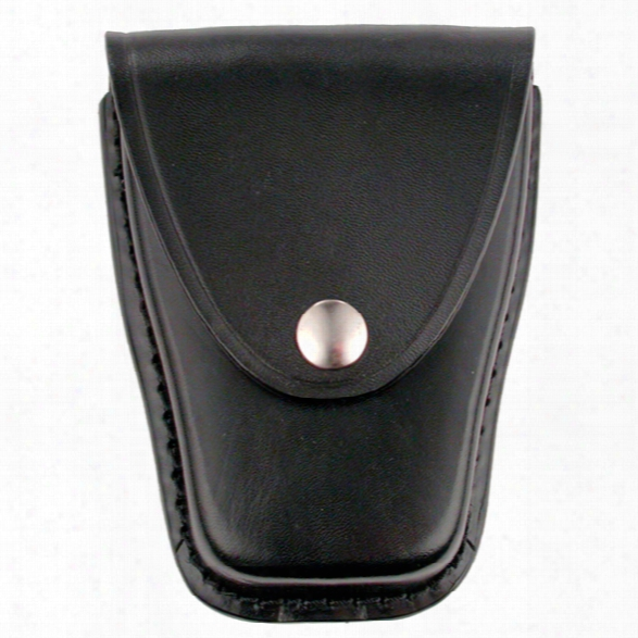 Dutyman 8811 Cuff Case, Plain Black, Gold Snap - Black - Unisex - Included