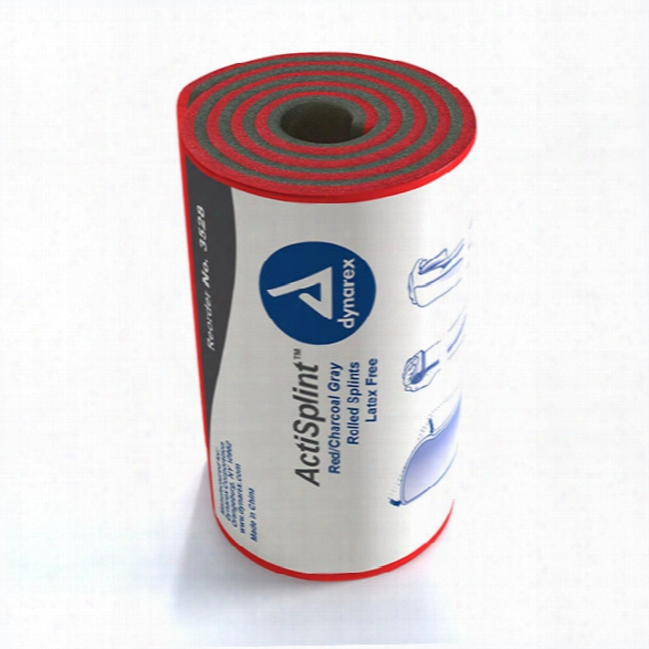 Dynarex Actisplint Rolled Splint - Red - Unisex - Included