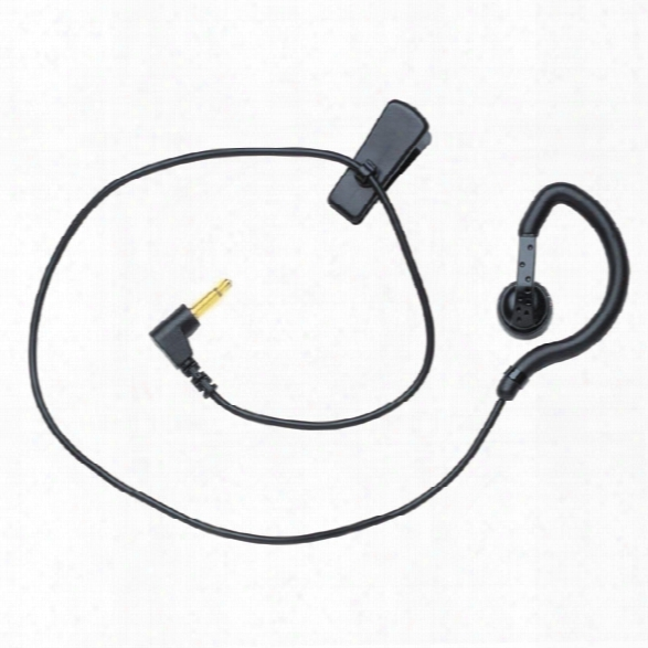 "Earhugger S-series Listen Only Earpiece W/ 14"" Straight Cord & 2.5mm Plug - Gold - Unisex - Included"